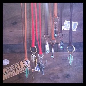 Western leather necklaces handmade